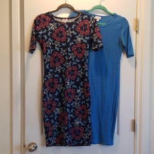 GUC set of 2 Lularoe Juila Pencil Dress size xs